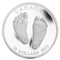 2013 Canada $10 Welcome to the World - Baby Feet Fine Silver (No Tax)