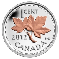 2012 Canada 1ct Farewell to the Penny w/ Selective Plating (No Tax)