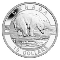 2013 $10 O Canada - The Polar Bear Fine Silver (No Tax)