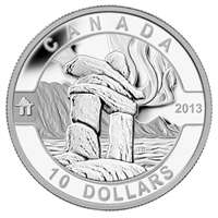 RDC 2013 $10 O Canada - Inukshuk Fine Silver Coin (No Tax) Impaired