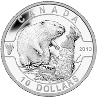 2013 $10 O Canada The Beaver (#2) Fine Silver (No Tax)