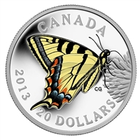2013 $20 Butterflies of Canada - Canadian Tiger Swallowtail (No Tax)