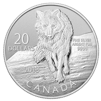 2013 Canada $20 Wolf ($20 for $20 #8) Fine Silver (No Tax)
