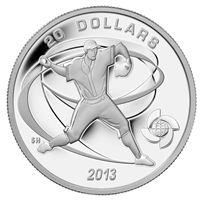 2013 Canada $20 Baseball - Pitcher Fine Silver (No Tax)