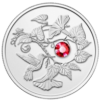 RDC 2013 Canada $3 Hummingbird & Morning Glory Fine Silver (No Tax) Worn Sleeve