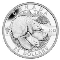 2013 $25 O Canada - The Beaver Fine Silver (No Tax)