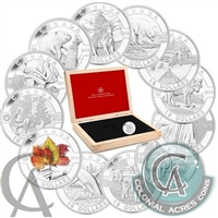 2013 Complete O Canada $10 12-Coin Set with Deluxe Box (NO Tax)