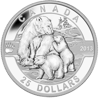 2013 $25 O Canada - The Polar Bear (#2) Fine Silver (No Tax) 123120