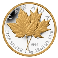 2013 Canada $250 Maple Leaf Forever Kilo with Gold Plating (No Tax) scratched capsule