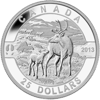 2013 $25 O Canada - The Caribou (#4) Fine Silver (No Tax)