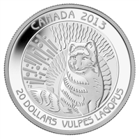 2013 Canada $20 Untamed Canada - Arctic Fox Fine Silver (TAX Exempt)