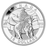 2013 $10 O Canada - Royal Canadian Mounted Police Fine Silver (No Tax)