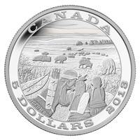 2013 Canada $5 Tradition of Hunting - Bison Fine Silver (No Tax) scratched capsule