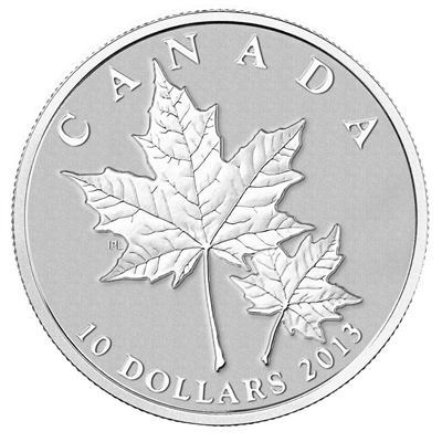 2013 Canada $10 Maple Leaf Fine Silver Coin (TAX Exempt)