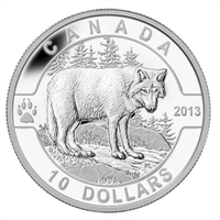 2013 $10 O Canada The Wolf (#6) Fine Silver (No Tax)