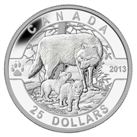 2013 $25 O Canada - The Wolf Fine Silver #3 (Tax Exempt)