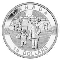 2013 $10 O Canada Hockey (#9) Fine Silver (No Tax)