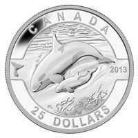 RDC 2013 $25 O Canada - Orca (#5) Fine Silver (No Tax) Missing COA