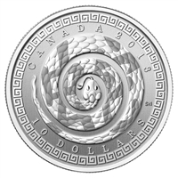 2013 Canada $10 Year of the Snake (Chinese Character) Fine Silver (No Tax)