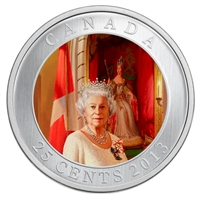 2013 Canada 25-cent Her Majesty Queen Elizabeth II Coronation