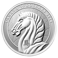 2014 Canada $10 Year of the Horse Fine Silver (TAX Exempt)
