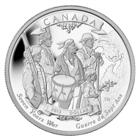2013 Canada End of the 7 Years War Limited Edition Proof Silver Dollar (No Tax)