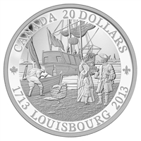 2013 Canada $20 300th Anniversary of Louisbourg Fine Silver (No Tax)