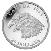 2013 Canada $20 The Bald Eagle - Portrait of Power Fine Silver (No Tax)