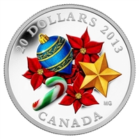 RDC 2013 Canada $20 Candy Cane Fine Silver Coin (No Tax) Creased Sleeve
