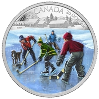 2014 Canada $20 Pond Hockey Fine Silver Coin - 125548 (TAX Exempt)
