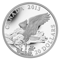 2013 Canada $20 Bald Eagle - Returning From the Hunt (No Tax)