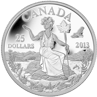 RDC 2013 $25 Canada - An Allegory Fine Silver (No Tax) scratched capsule