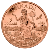 RDC 2013 $3 Canada: An Allegory Bronze Coin (Impaired)
