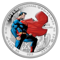 2013 Canada $20 Superman - Man of Steel Fine Silver (No Tax)