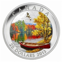 2013 Canada $20 Autumn Bliss Fine Silver Coin (TAX Exempt)