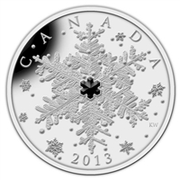 2013 Canada $20 Winter Snowflake Fine Silver (TAX Exempt)