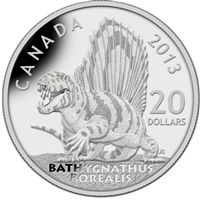 2013 $20 Dinosaurs of Canada - Bathygnathus Borealis (TAX Exempt)
