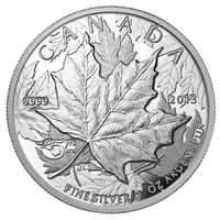 2013 Canada $5 Piedfort 25th Ann. of the Silver Maple Leaf (No Tax)