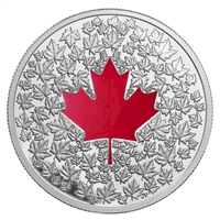 2013 Canada $20 Maple Leaf Impression (Red Enamel) Silver (No Tax)