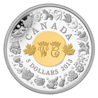 2013 Canada $5 Royal Infant Toys Fine Silver (No Tax) - 127107.