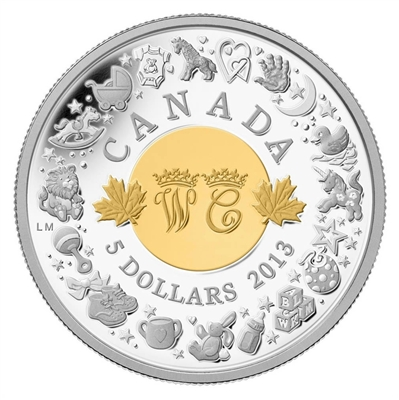 RDC 2013 Canada $5 Royal Infant Toys Fine Silver (No Tax) Flocking