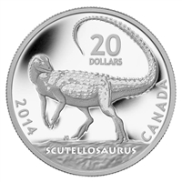 2014 $20 Dinosaurs of Canada: Scutellosaurus Fine Silver (No Tax)