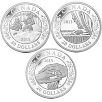 2013 Canada $20 Birth of the Royal Baby Silver 3-Coin Set (No Tax)