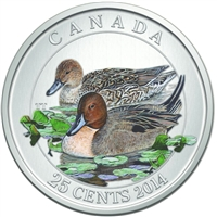 2014 Canada 25-cent Ducks of Canada - Pintail Duck