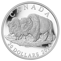 2014 Canada $20 The Bison: The Bull and His Mate (No Tax)