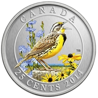 2014 25-cent Birds of Canada - Eastern Meadowlark