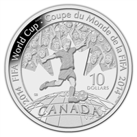 2014 Canada $10 2014 FIFA World Cup Fine Silver (No Tax)