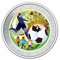 2014 Canada 25-cent 2014 FIFA World Cup Coloured Coin