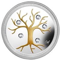 2014 Canada $3 Jewel of Life Fine Silver Coin (TAX Exempt) 128684