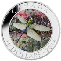 2014 Canada $10 Dragonfly - Green Darner Fine Silver (No Tax)